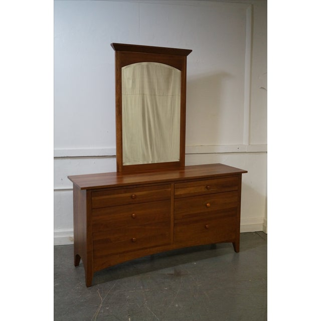 Ethan Allen New Impressions Solid Cherry Dresser With Mirror - Image 2 of 10