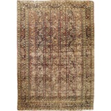 Image of Early 1900 Distressed Antique Persian Rug - 4′ × 6′ For Sale