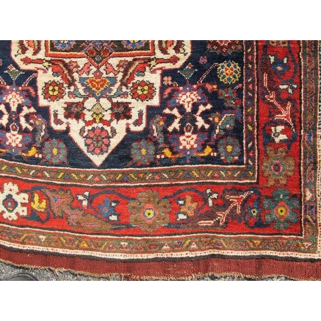 Fabric Bidjar Runner For Sale - Image 7 of 9