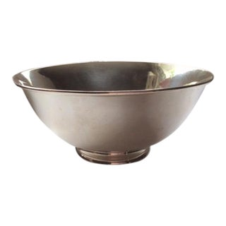 1909 - 1919 Arthur Stone Hand-Hammered Sterling Silver Footed Bowl For Sale