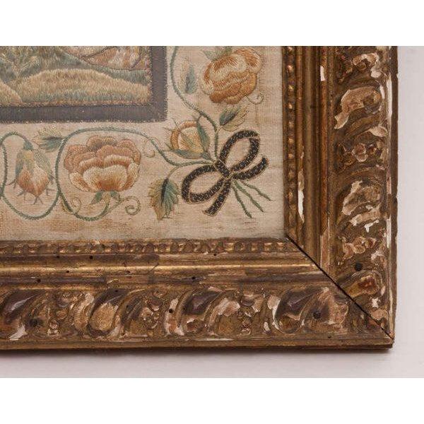 Italian Italian Silk Thread Needlework in Gilt Frame For Sale - Image 3 of 11