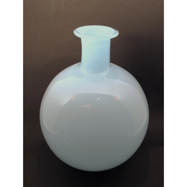 Vintage Blown White Glass Scandinavian Style Vase Chairish
