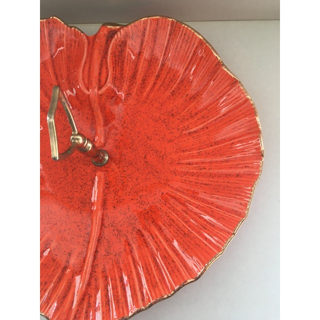 1960s Vintage Mid-Century Modern California Pottery Centerpiece Serving Tray For Sale - Image 5 of 7