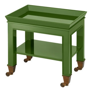 Miles Redd Collection Telephone Table in Lettuce Green For Sale