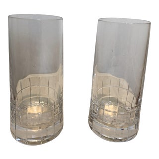 Christofle Crystal Highball Glasses - a Pair For Sale