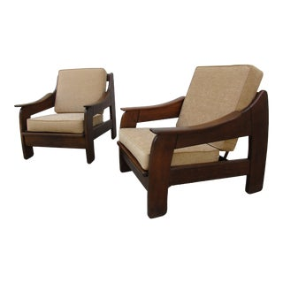 Adrian Pearsall Style Lounge Chairs - A Pair For Sale