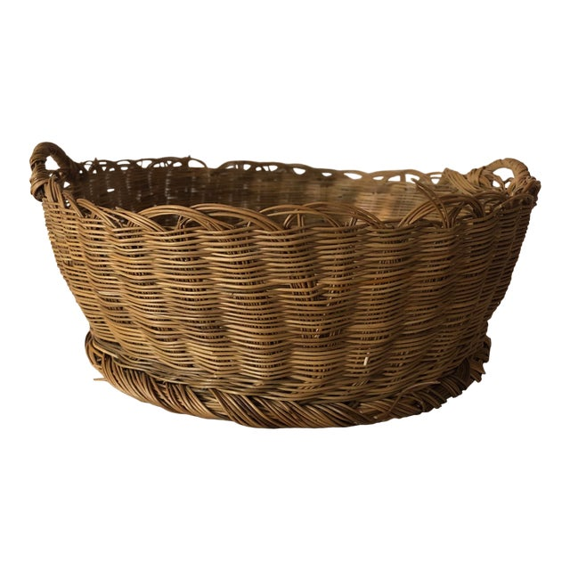 Antique Basket With Handles For Sale