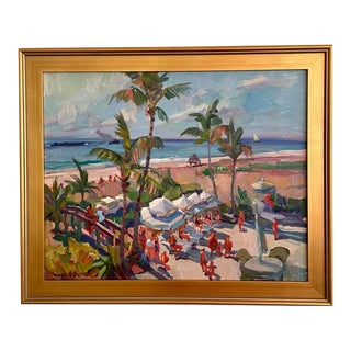 """""""Family Day"""" Seascape Oil Painting by James P. Kerr For Sale"""