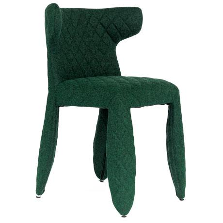 2020s Moooi Green Heathered Wool Upholstered Dining Chair For Sale - Image 5 of 5
