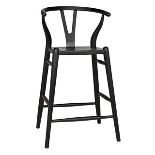 Zola Counter Stool, Charcoal Black For Sale