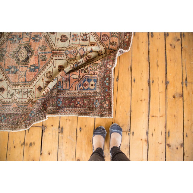 """Vintage Distressed Malayer Rug - 4'4"""" X 6'3"""" For Sale - Image 4 of 12"""