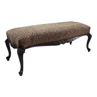 Late 19th Century Antique Louis XV Style Bench For Sale