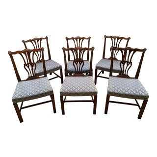Chippendale Mahogany Style Dining Chairs - Set of 6 For Sale