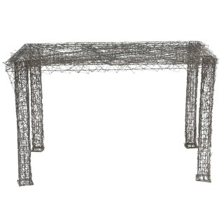 William De Lillo Wire Rod Console or Dining Table For Sale