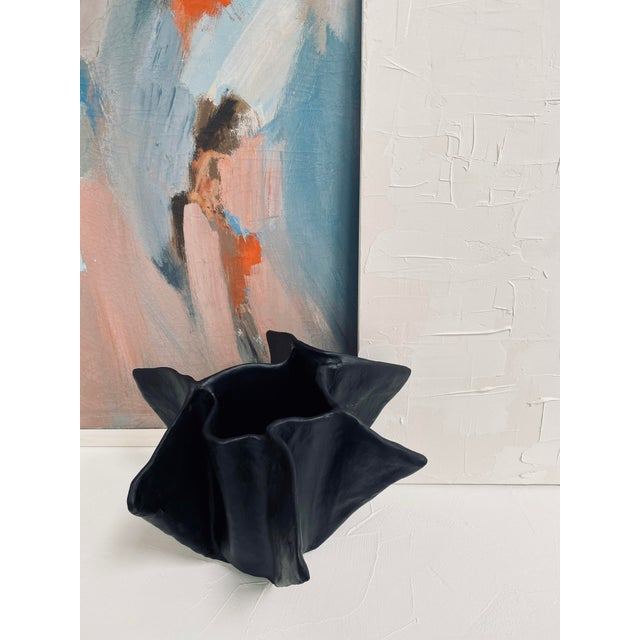 Not Yet Made - Made To Order The Black Plaster Pinch Decorative Bowl For Sale - Image 5 of 7