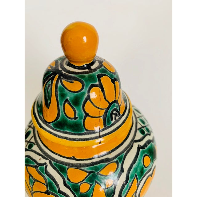 Mexican Talavera Pottery Ginger Jar For Sale - Image 4 of 6