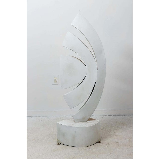 """Metal Mid 20th Century """"The Leaf"""" Abstract Metal Sculpture by Homer Gunn For Sale - Image 7 of 8"""