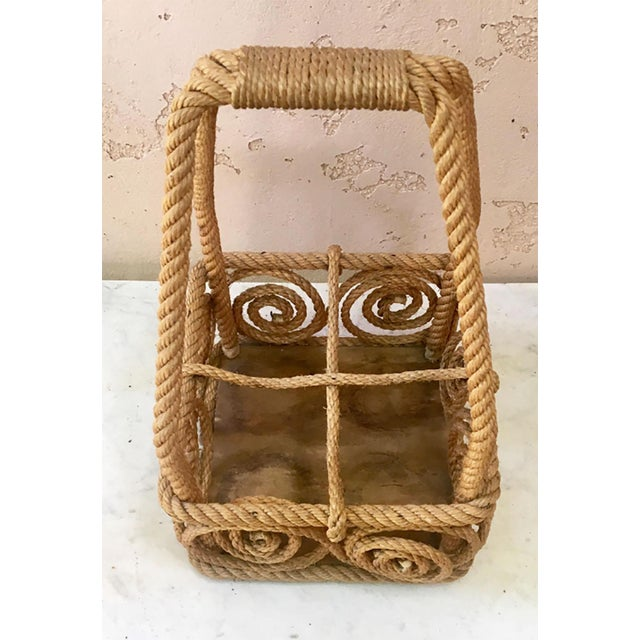 1950s Rope Bottle Carrier Audoux Minet, Circa 1950 For Sale - Image 5 of 6