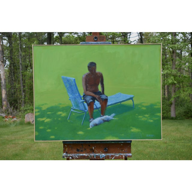 """Contemporary """"Resting in the Shade"""", Stephen Remick Contemporary Painting For Sale - Image 3 of 13"""