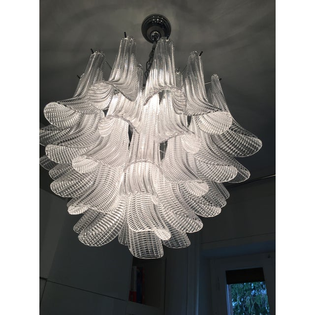"2010s Modern Murano Glass ""Selle"" Sputnik Chandelier For Sale - Image 5 of 11"