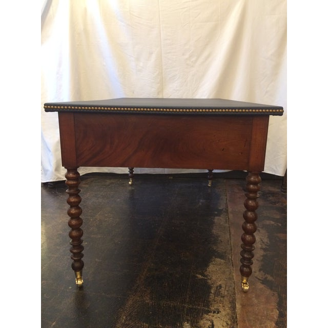 Louis Philippe Leather Top Writing Desk For Sale - Image 6 of 9