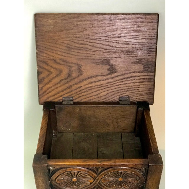 Oak 19th Century Traditional Oak Joint Stool/ Bible Box For Sale - Image 7 of 8