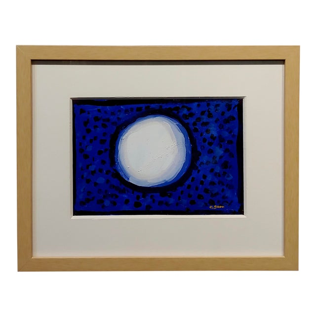 "Conrad Buff ""Snowball Over a Deep Blue"" Modernist Oil Painting For Sale"