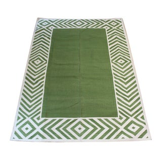 "Madeline Weinrib Green ""Darlington"" Rug - 6' X 9' For Sale"