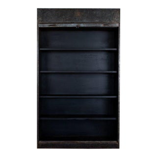 1940s Industrial Metal Cabinet For Sale