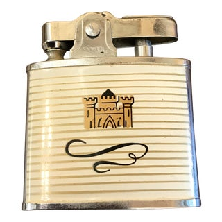 Vintage Cigarette Lighter With Castle Japan