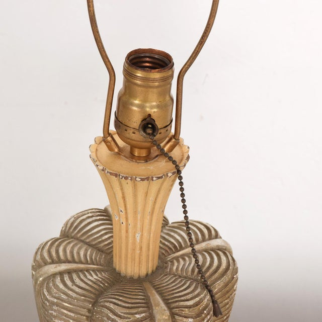 Tan Neoclassical Sculptural Table Lamps, Circa 1940s For Sale - Image 8 of 12