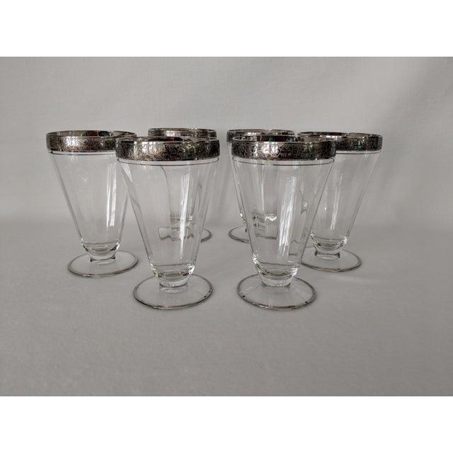1950s Silver Embossed Dessert Glasses – Set of 6 For Sale - Image 5 of 11