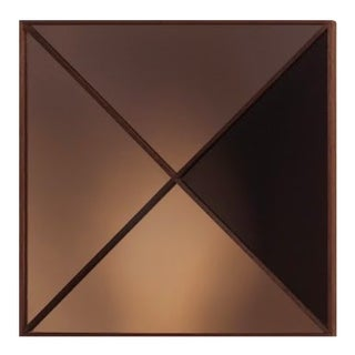 Square Constructivist Mirror by Nina Cho For Sale