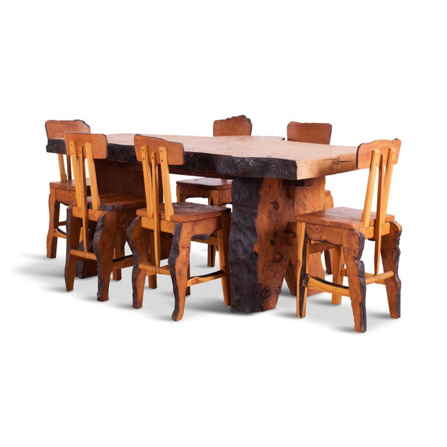 1960s Atelier Marolles WABI SABI Dining table and chairs For Sale - Image 5 of 5