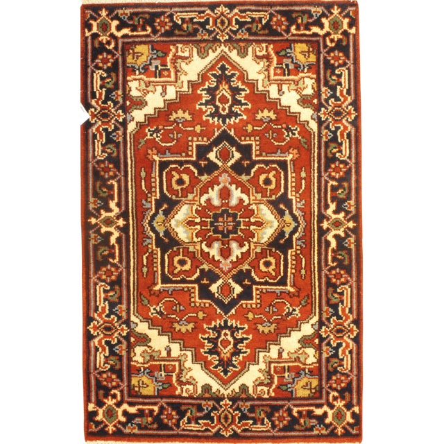 Pasargad NY Serapi Hand-Knotted Rug - 2′7″ × 4′3″ For Sale