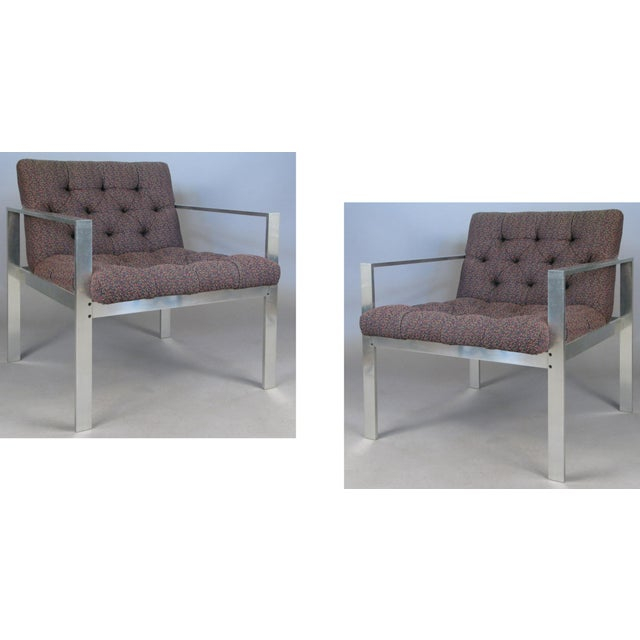 Metal 1960s Vintage Aluminum Frame Lounge Chairs by Harvey Probber-a Pair For Sale - Image 7 of 7