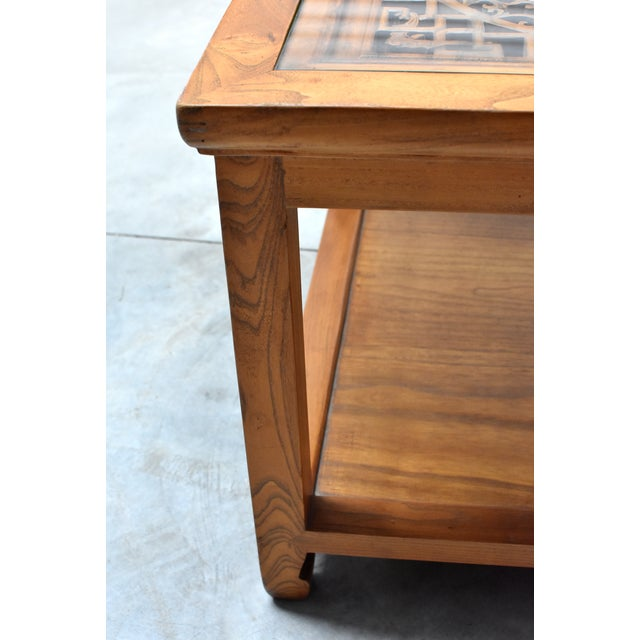 Elm Chinese Solid Wood Coffee Table For Sale - Image 7 of 13