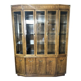 1970s Campaign Drexel Accolade China Cabinet For Sale