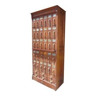 1890's Antique Industrial File Letter Cabinet