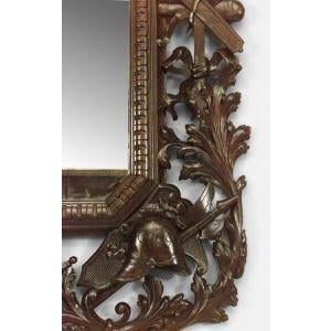 19th c. Wall Mirror Carved with American Iconography For Sale In New York - Image 6 of 8