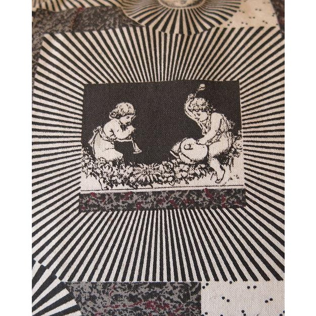 Mid-Century Modern Pair of Original 1950s Fornasetti Fabric Cushions For Sale - Image 3 of 4