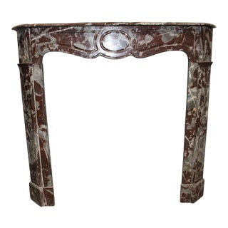 French, Louis XV Style Marble Mantel For Sale