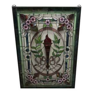 Victorian Stained Glass Panel/Window For Sale