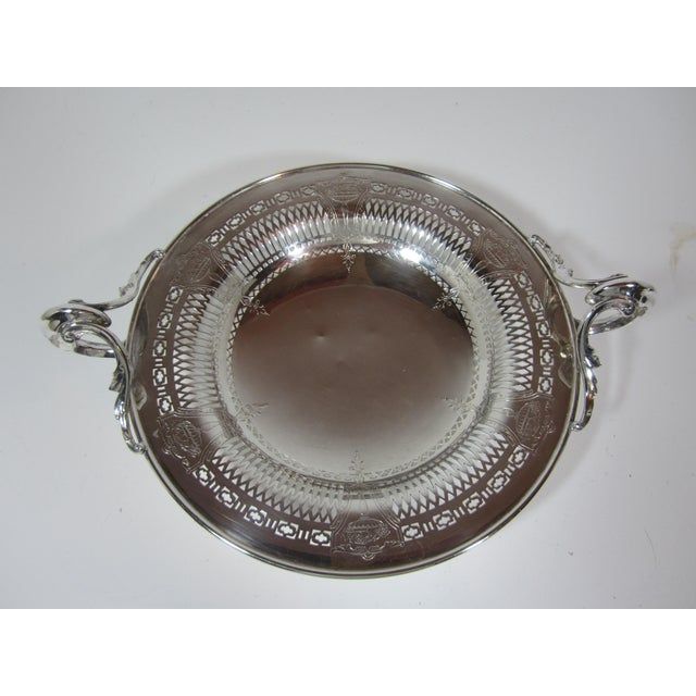 1930s 1930s Silver Plate Serving Bowl For Sale - Image 5 of 9