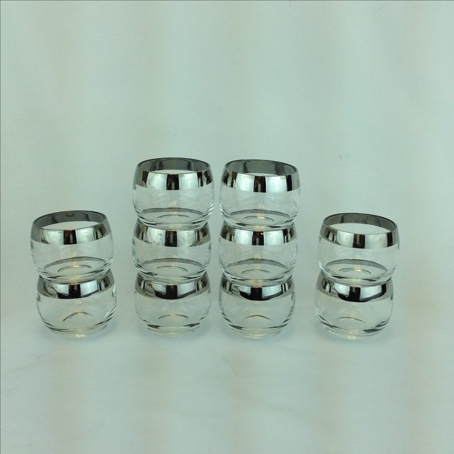 Dorothy Thorpe Silver Rimmed Glasses - Set of 10 - Image 3 of 4