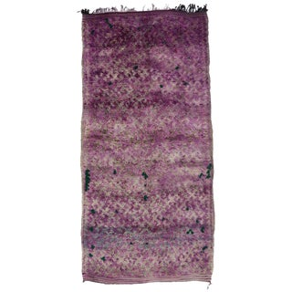 Late 20th Century Purple Moroccan Rug - 6′3″ × 12′2″ For Sale