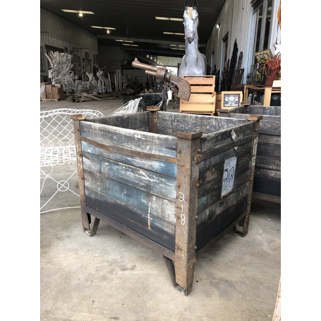 1900 - 1909 1900's American Industrial Planter For Sale - Image 5 of 5