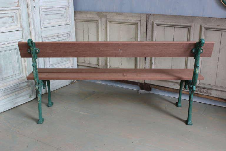 French Mahogany Wood Garden Bench For Sale In New York   Image 6 Of 9