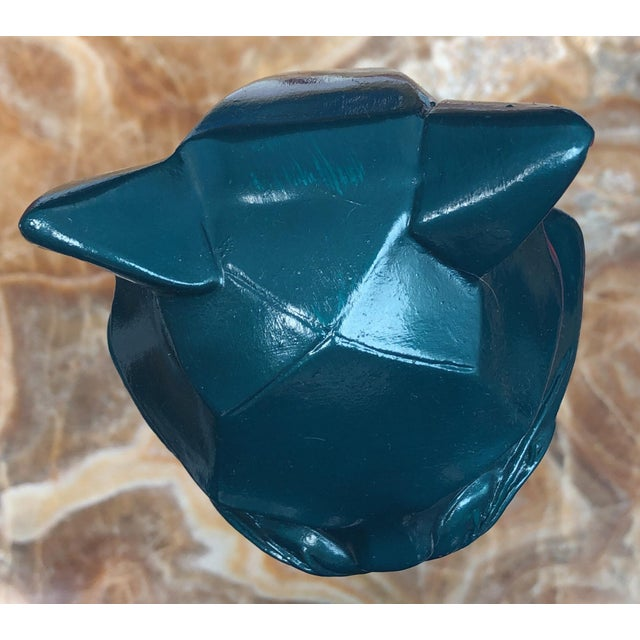 Geometric Enameled Cats - a Pair For Sale - Image 4 of 7