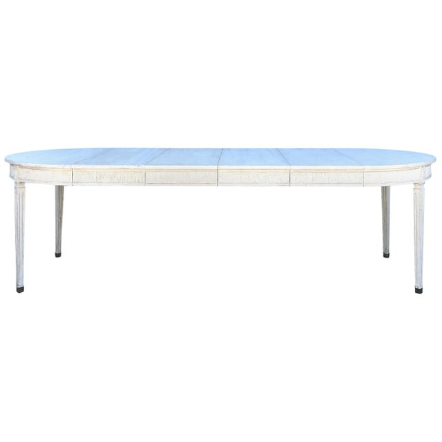 19th Century Gustavian Extension Dining Table For Sale - Image 9 of 9